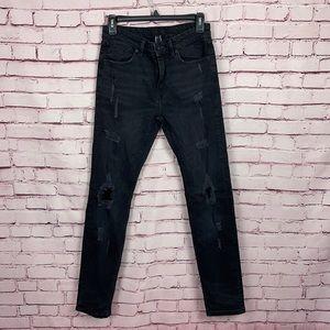 Forever 21 Black Skinny Jeans Size 30